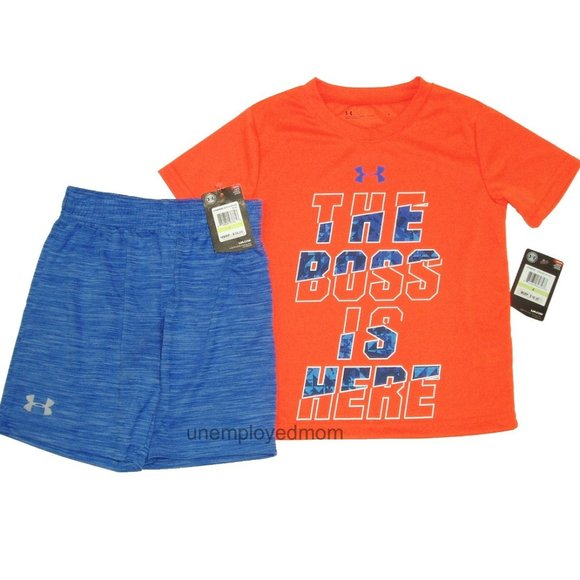 New with tags BLUE//RED USA Under armour t-shirts infant Sizes 18M and 24M